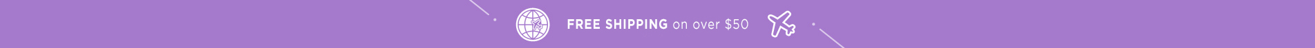 Free Shipping on over USD50 at moonshot cosmetics